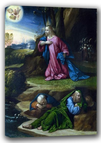 Garofalo, Benvenuto Tisi da: The Agony in the Garden. Fine Art Canvas. Sizes: A4/A3/A2/A1 (001303)